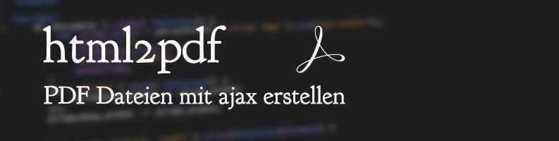 html2pdf : PDF erstellen mit PHP